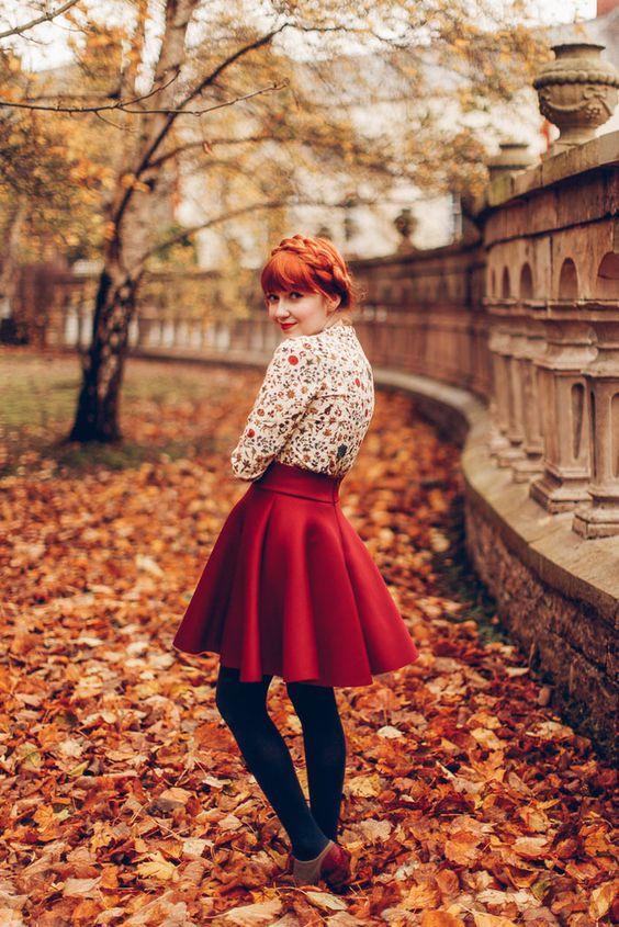 ژست عکس زیبای پاییزی دخترانه برای پروفایل