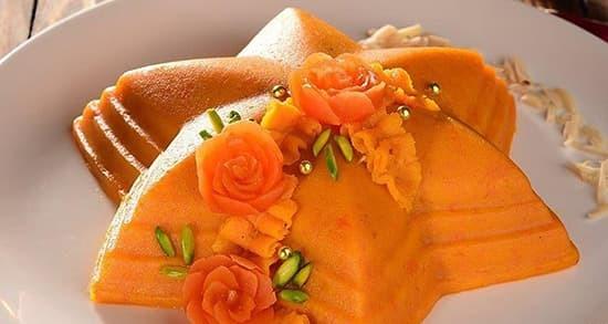 طرز تهیه حلوای هویج زعفرانی