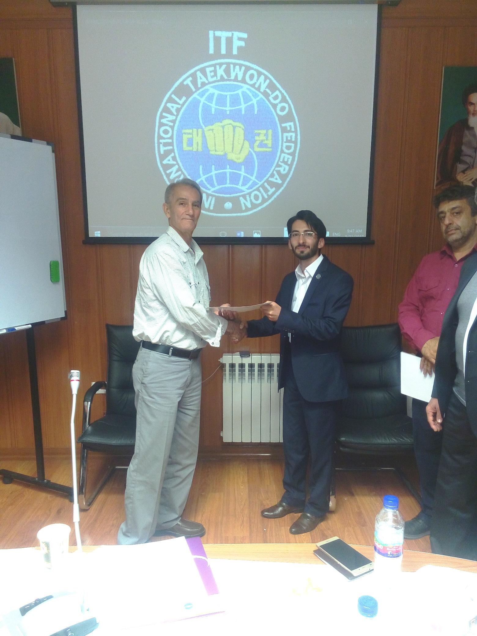انتصاب دکتر سابُوم رضا قدسی بعنوان رئیس کمیته امور بین الملل