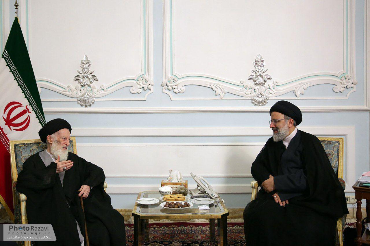 آیت اللهالعظمی شبیری زنجانی با حجتالاسلام رئیسی دیدار کرد
