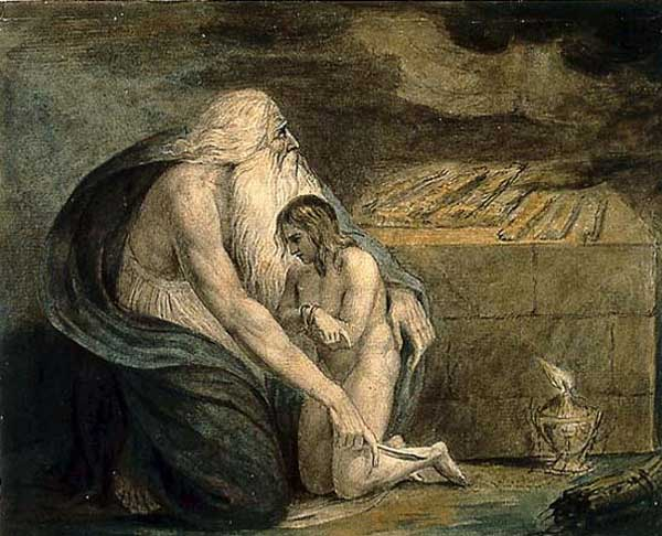 Abraham-Preparing-to-Sacrifice-Isaac-William-Blake-about1783