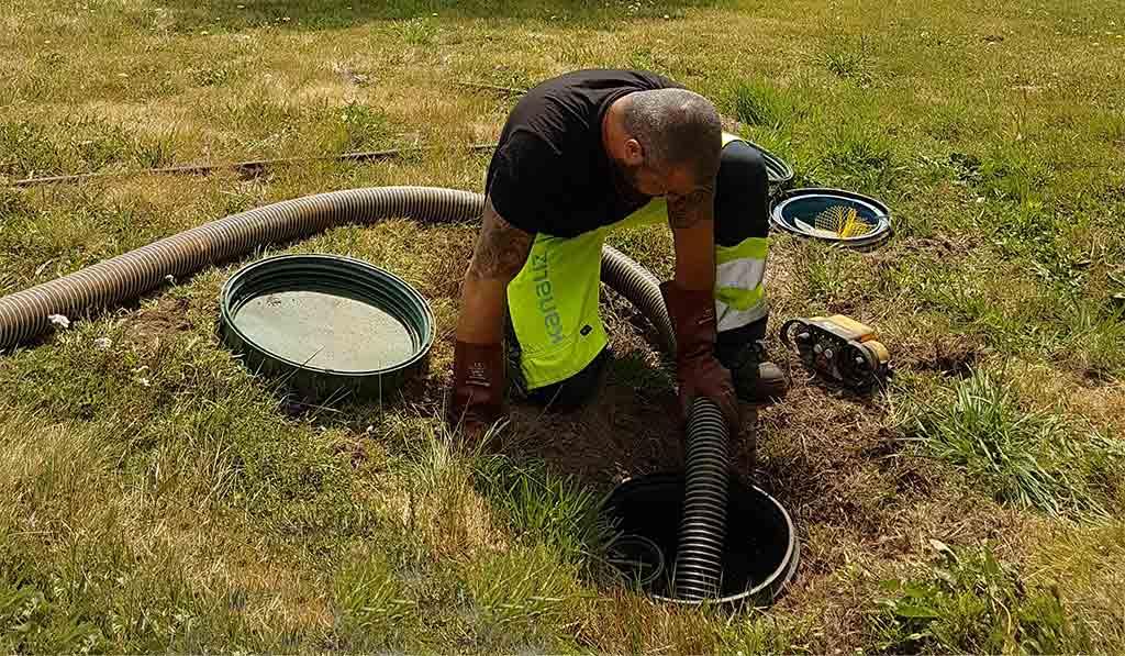 سیستم تخلیه چاه های کهنه و قدیمی