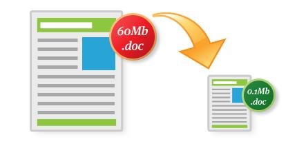 کاهش حجم فایلهای ورد