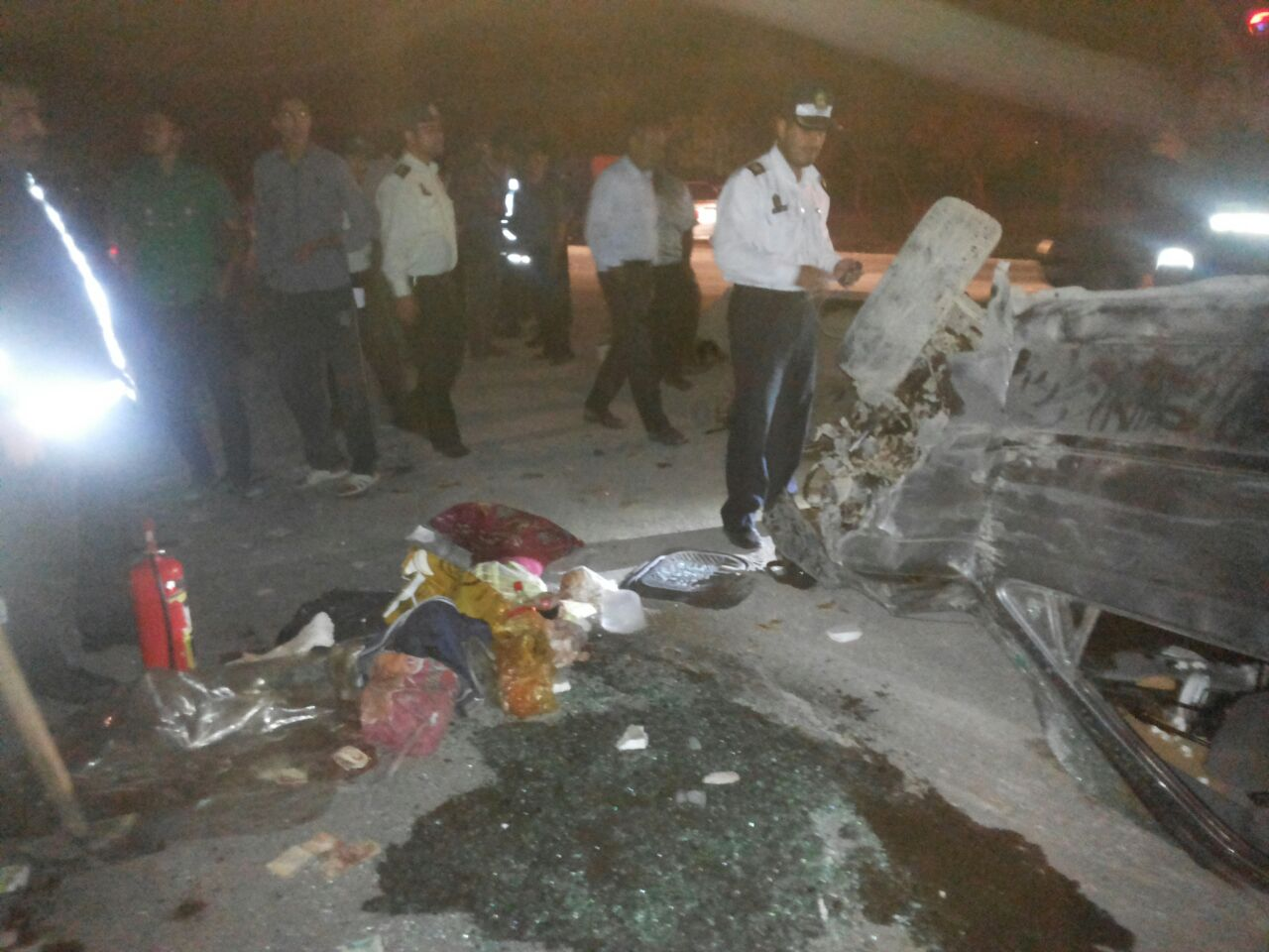 تصادف جاده حبیب آباد