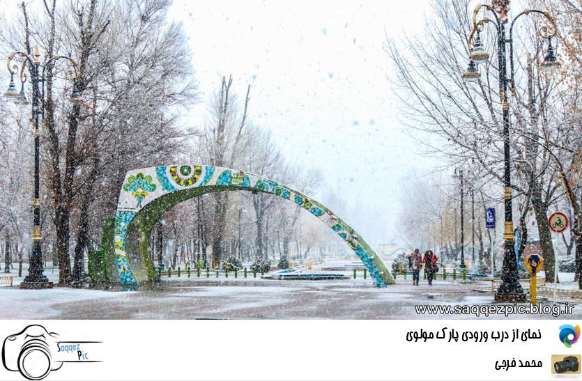 درب ورودی پارک مولوی کرد شهر سقز