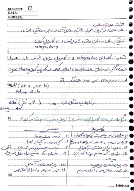 جزوه طراحی و پیاده سازی زبانهای برنامه سازی استاد خوانساری