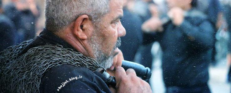 14 عکس از زنجیرزنی روز تاسوعا در شهر بردخون