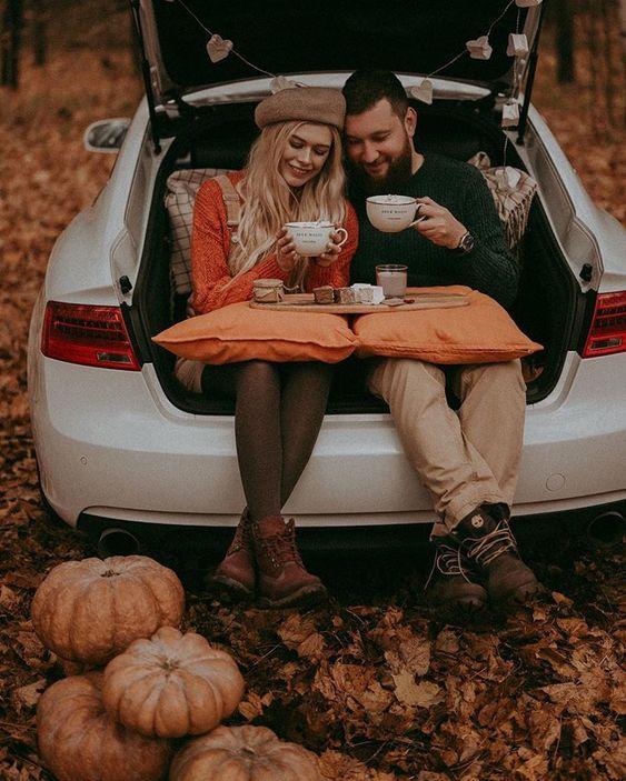 خاص ترین ژست عکس پاییزی دونفره عاشقانه برای پروفایل