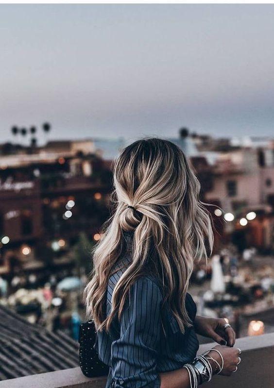 عکس پروفایل دختر از پشت سر با موی باز