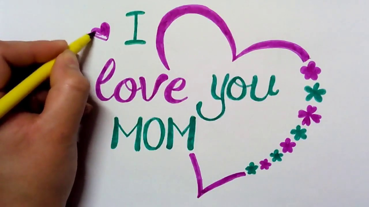 بهترین عکس نوشته i love you mom برای روز مادر