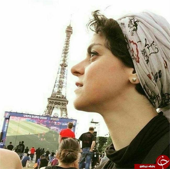 عکس غزل شاکری بازیگر زن سریال شهرزاد در یورو 2016