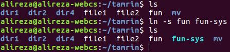 خط فرمان لینوکس دستور ln برای ایجاد لینک ها