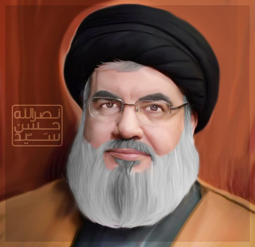 تصویر سازی سید حسن نصرالله دبیر کل حزب الله لبنان