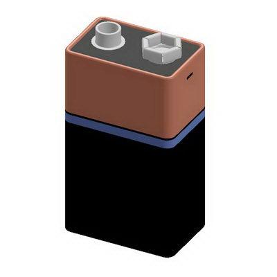 مدل سه بعدی آماده باتری قلمی
