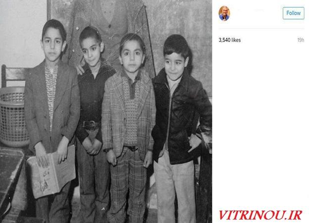 مهران مدیری در کودکی چه شکلی بود،مهران مدیری،دورهمی،عکس جالب از مهران مدیری،دوران کودکی مدیری