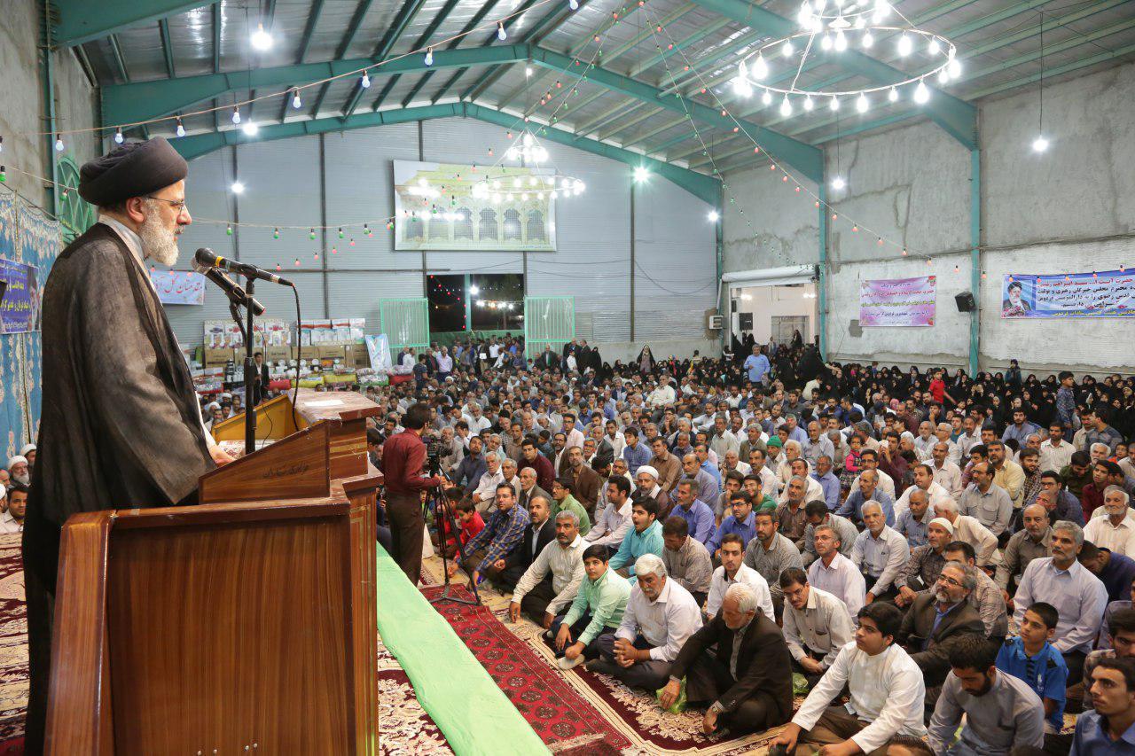 گزارش تصویری:سخنرانی حجت الاسلام رئیسی در جشن ولایت شهرستان فردوس