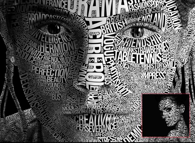 آموزش تایپوگرافی روی صورت