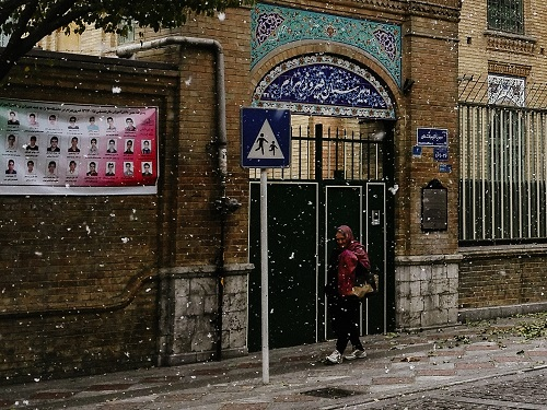 برف تهران- خیابان سی تیر