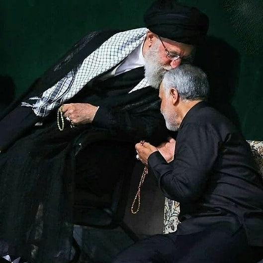 عکس سردار سلیمانی و رهبر انقلاب