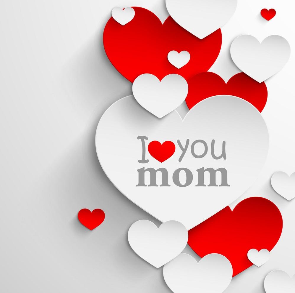 عکس نوشته مادر دوست دارم برای روز مادر