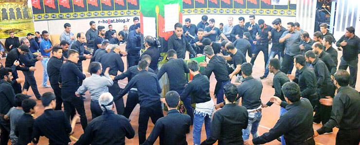 عزاداری محرم در حسینیه متوسلین به اباعبدالله بردخون +تصاویر