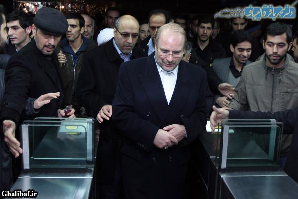 مراسم بهره برداری از ۷ کیلومتر بخش میانی خط سه مترو تهران