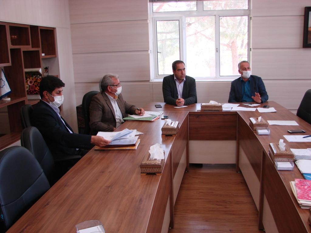 جلسات کاری شهرداری وزوان : اردیبهشت ماه۱۳۹۹