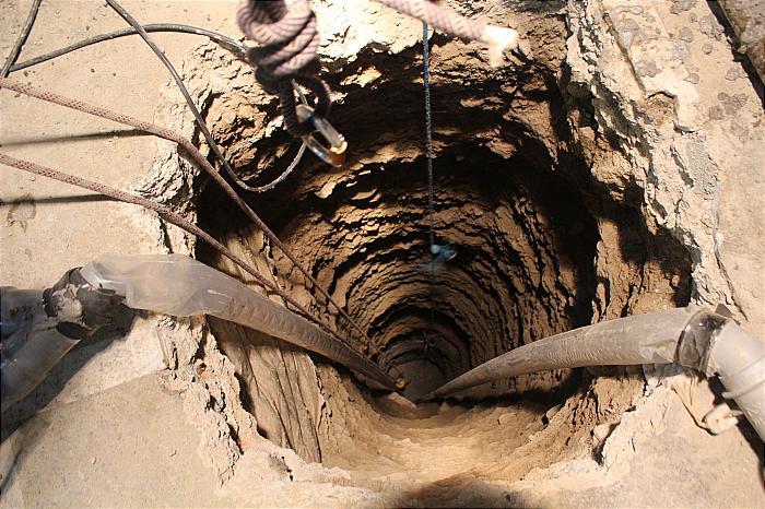 محل حفاری چاه های فاضلاب و آب