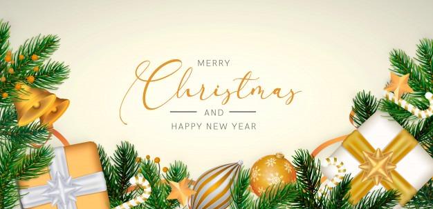 کارت پستال برای تبریک سال کریسمس 2020