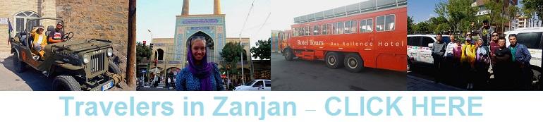Travelers in Zanjan