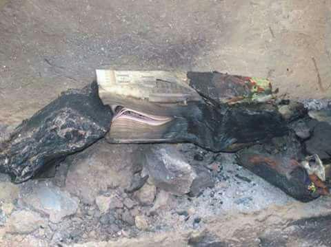 آتش زدن قرآن بوسیله کوچی و عشایر پشتون در بهسود