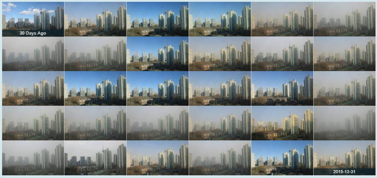 Beijing pollution 30 days