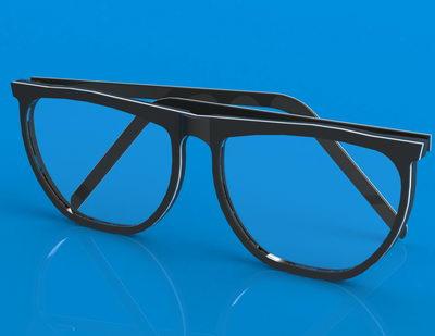 دانلود مدل سه بعدی عینک برای سالیدورکس و کتیا