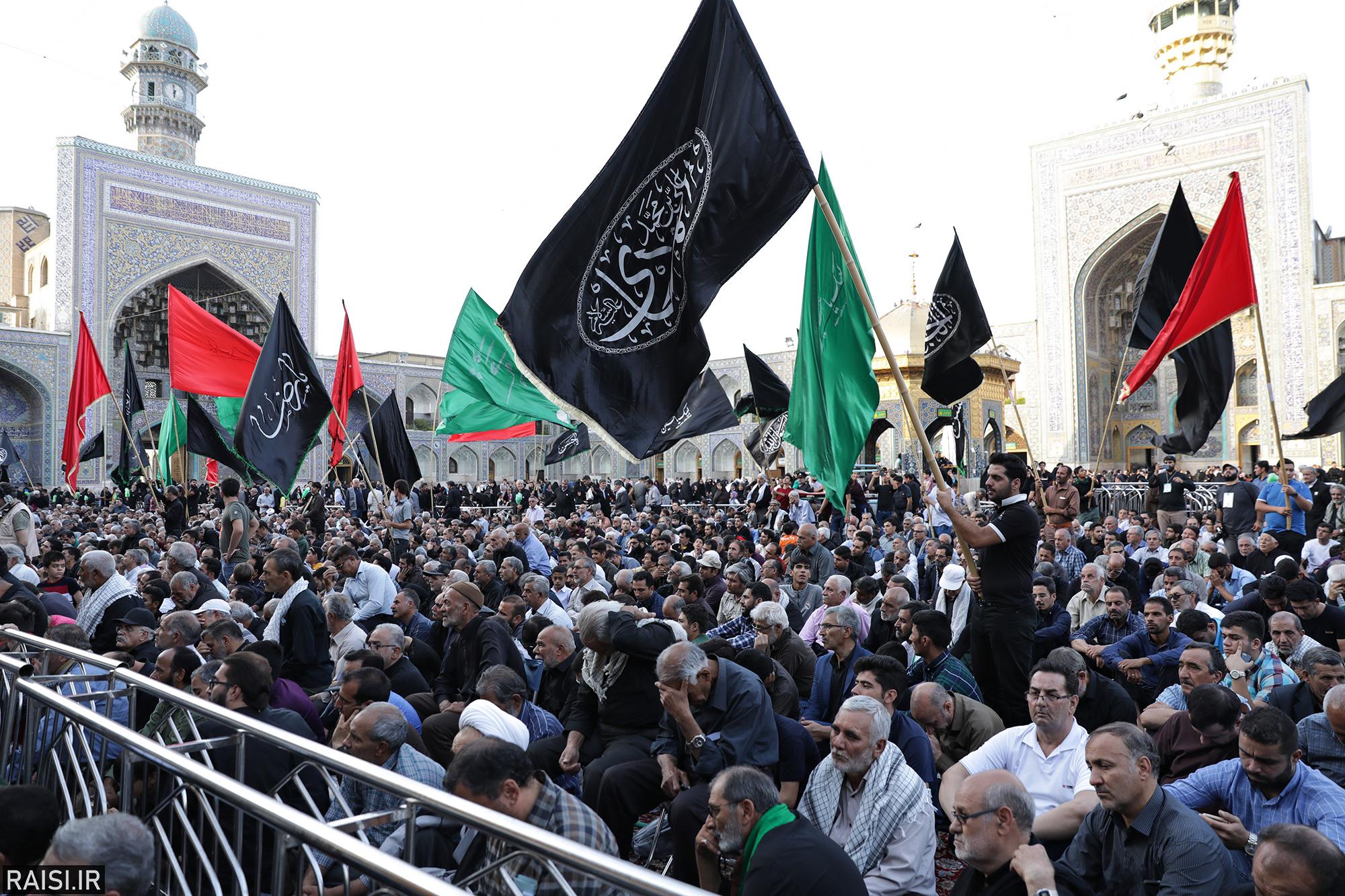گزارش تصویری(1) آیین اذن عزا با حضور تولیت آستان قدس رضوی