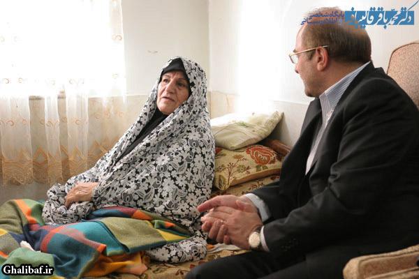 گزارش تصویری دیدار دکتر قالیباف با خانواده شهید بهرامی