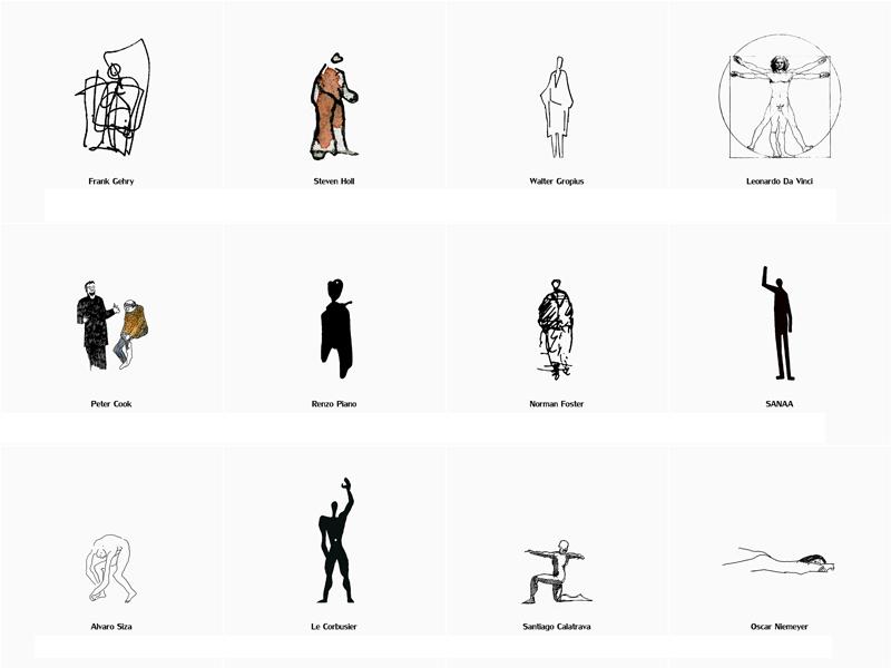 فیگورهای انسانی از معماران مشهور