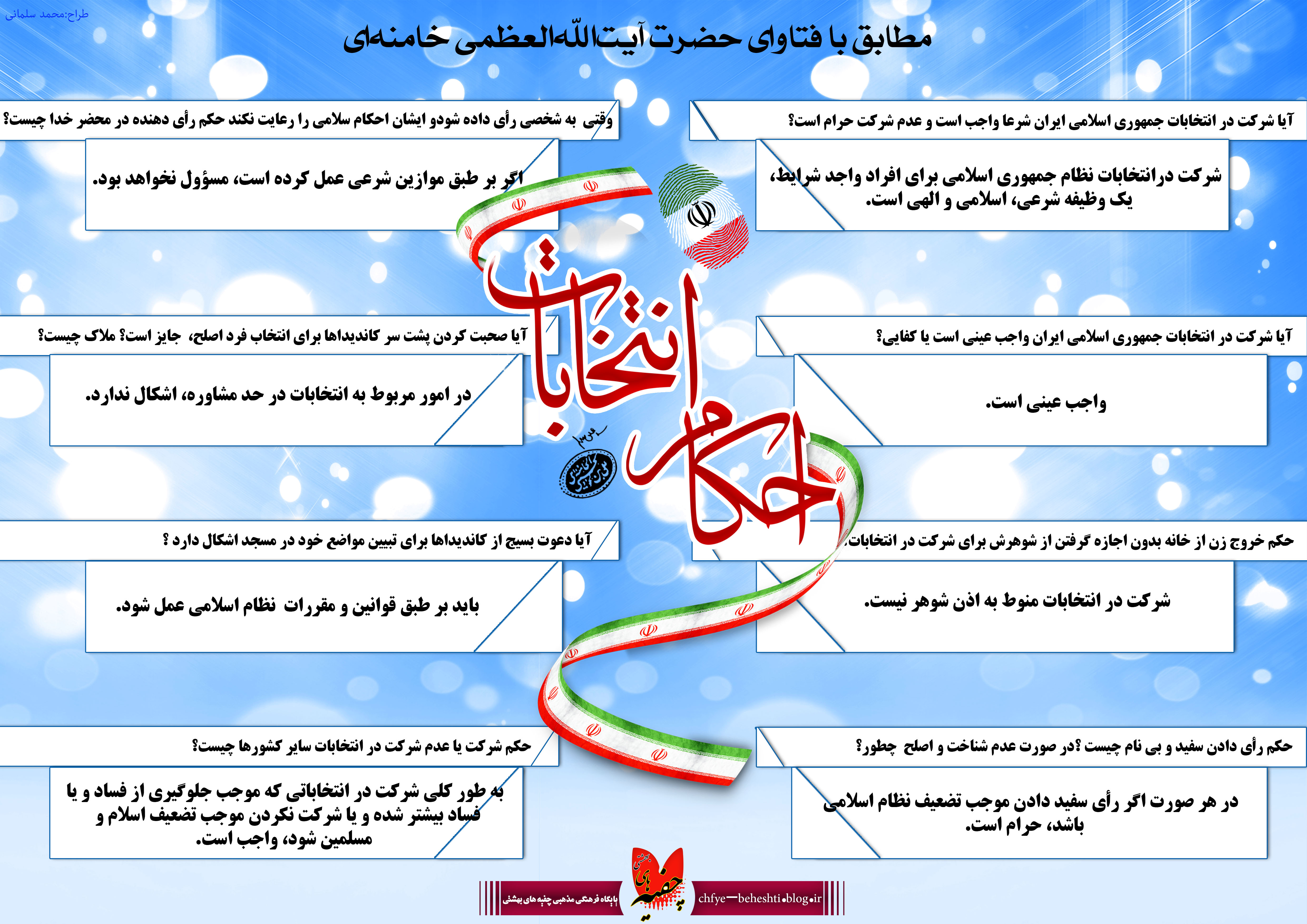 اینفوگرافیک احکام انتخابات