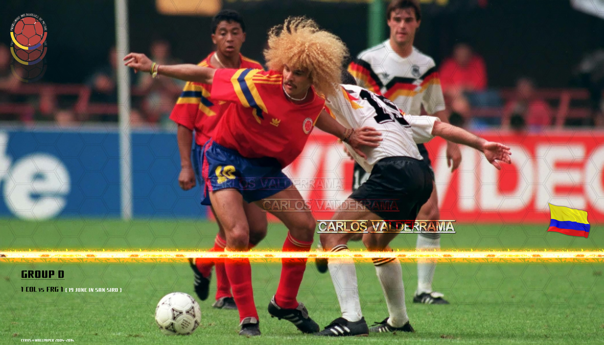 والپیپر کارلوس والدراما کلمبیا در جام جهانی 1990
