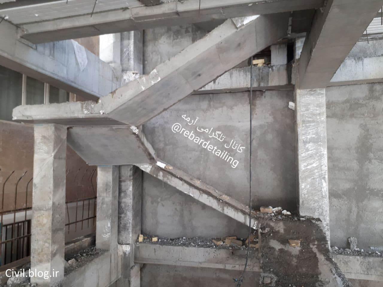 طراحی راه پله ها مطابق پیوست 6 آیین نامه 2800