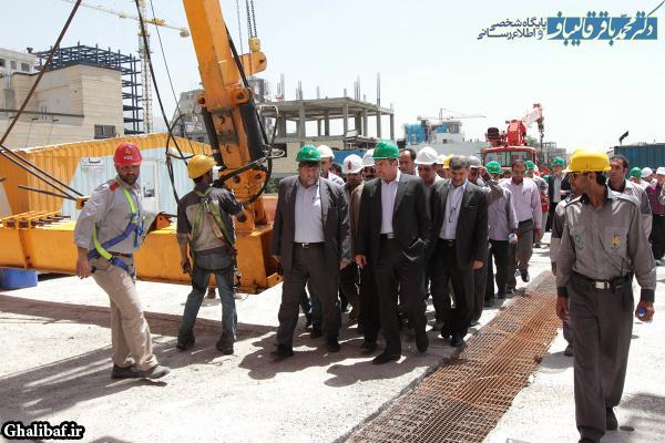 بازدید شهردار تهران از پروژه بزرگراه شهید صدر