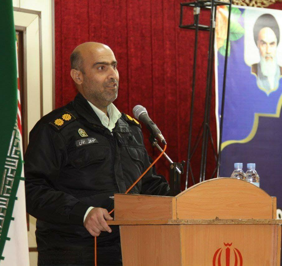 ضایعه اسفناک درگذشت فرمانده انتظامی بخش میمه، جناب سرهنگ شیرمحمد جمالی