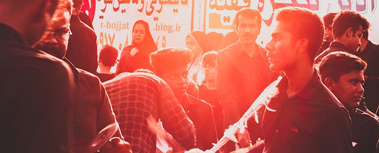 گزارش عزاداری روز تاسوعا حسینی در شهر بردخون 1398/1441