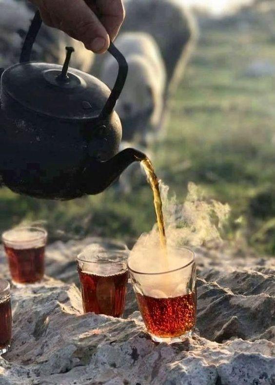 عکس زیبا فنجان چای در روز سرد پاییزی مناسب برای استوری اینستاگرام