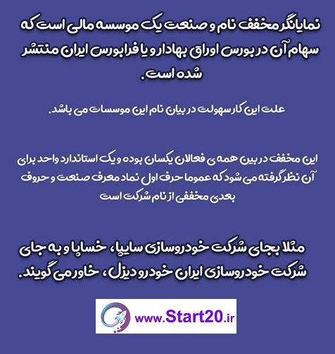 نمادهای بورسی در ایران
