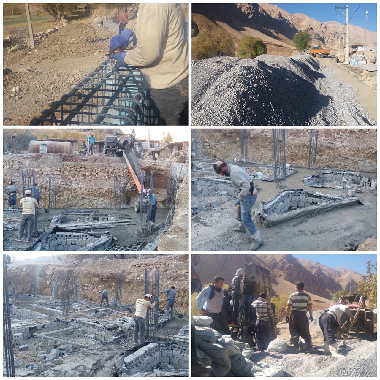 تصاویر مراحل اولیه ساخت مسجد روستای کمرون - اردو جهادی سال 1396