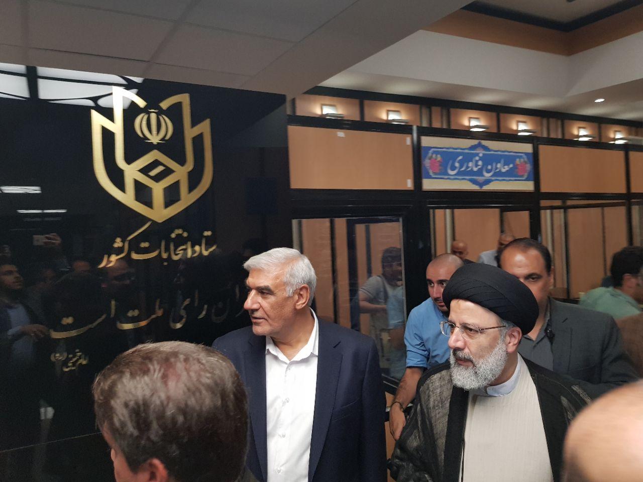 حجت الاسلام دکتر رئیسی برای پاره ای مذاکرات به وزارت کشور رفت