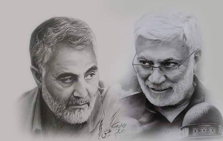 عکس پروفایل حاج قاسم و ابومهدی المهندس