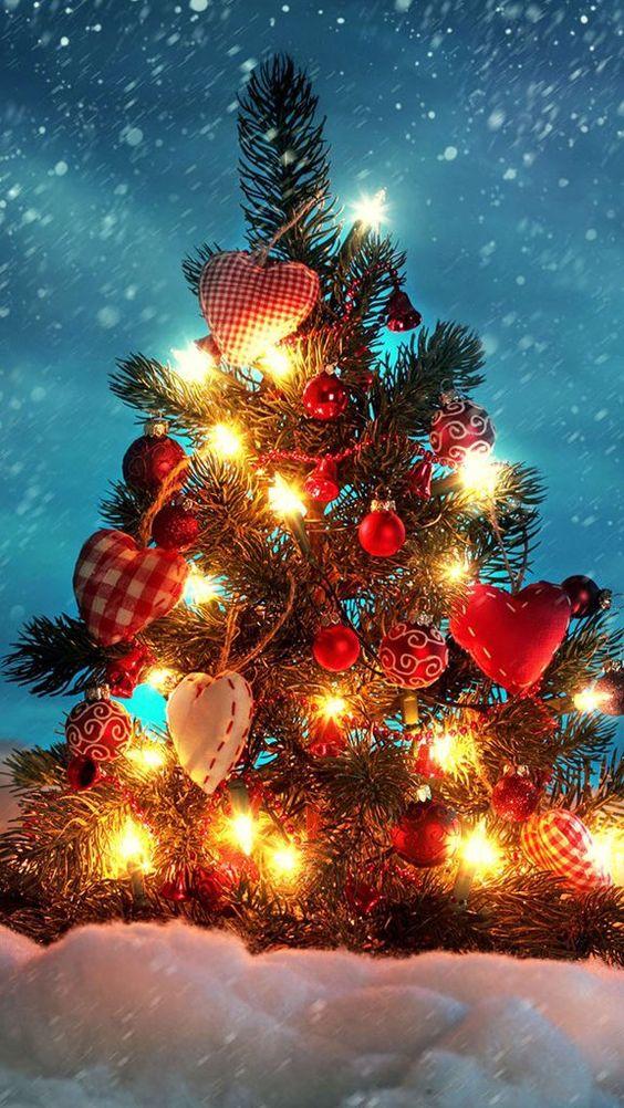 بک گراند درخت کریسمس برای موبایل