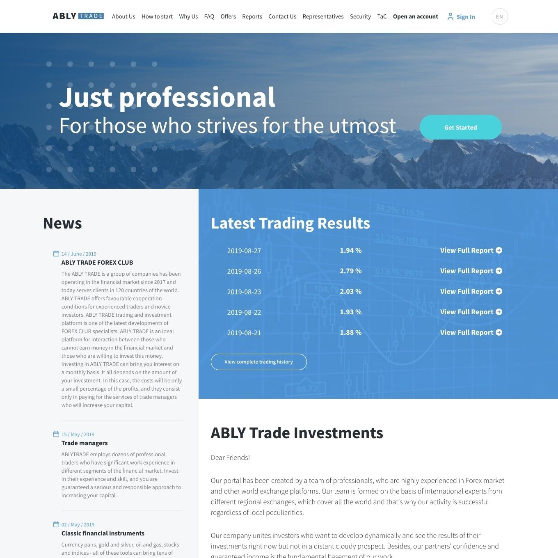 سایت سرمایه گذاری AblyTrade