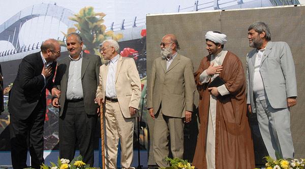 مراسم افتتاح پل جوادیه